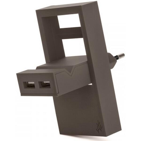 Nabíječka USBEPower USBE_ROCK - neoriginální Hnědá