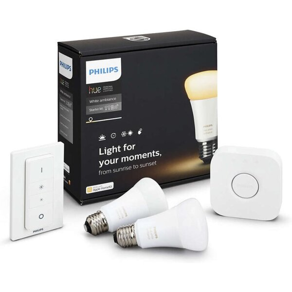 Philips Hue sada 2ks žárovek + Hue Bridge + ovladač 8718696548691