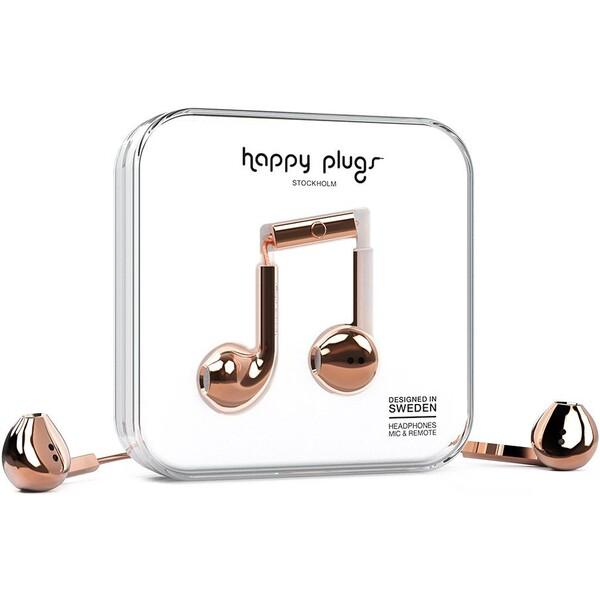 Happy Plugs Earbud Plus Růžově zlatá