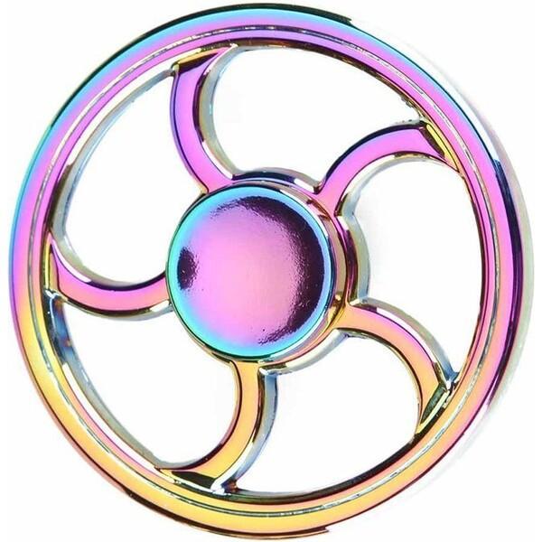 Fidget Spinner Kovový Fire Wheel Rainbow Růžově zlatá