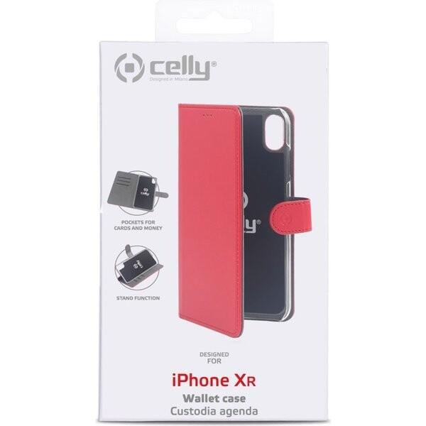 CELLY Wally flip pouzdro Apple iPhone XS Max červené
