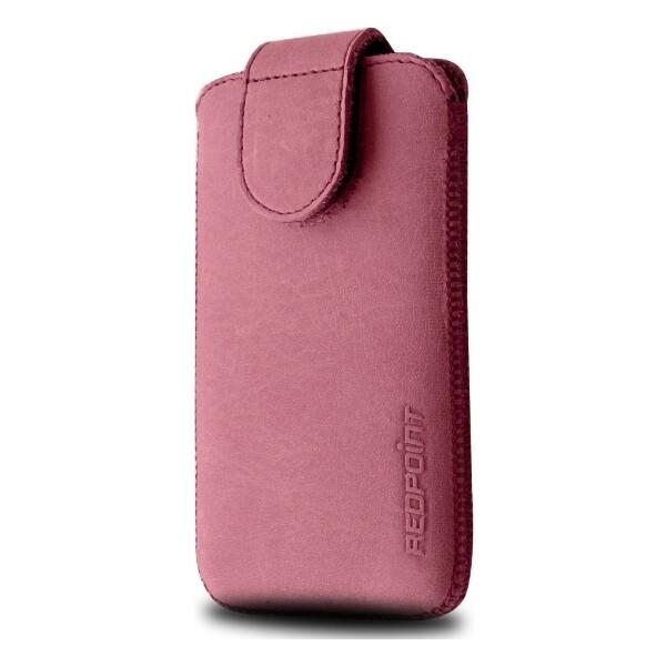 RedPoint Posh XXL (137x71mm) kožené pouzdro růžové