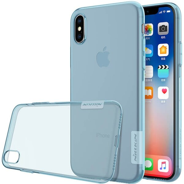 Nillkin Nature TPU pouzdro Apple iPhone X/XS modré
