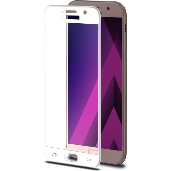 CELLY Glass Ochranné tvrzené sklo Samsung Galaxy A3 (2017) 3DGLASS643WH Bílá