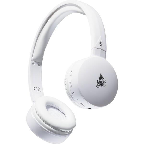 MUSIC SOUND Bluetooth sluchátka s mikrofonem bílá