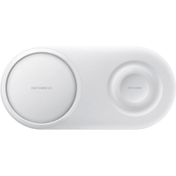 Samsung duální bezdrátová nabíječka bílá