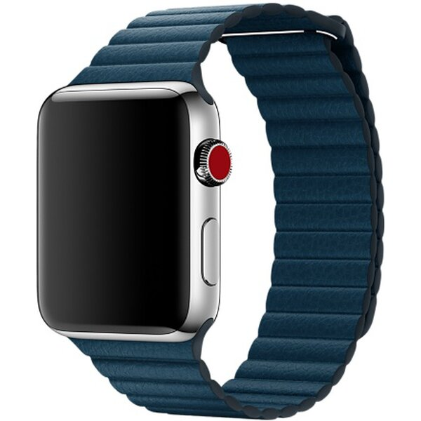 Apple Watch 42mm Cosmos Blue Leather Loop - Large Vesmírně modrá