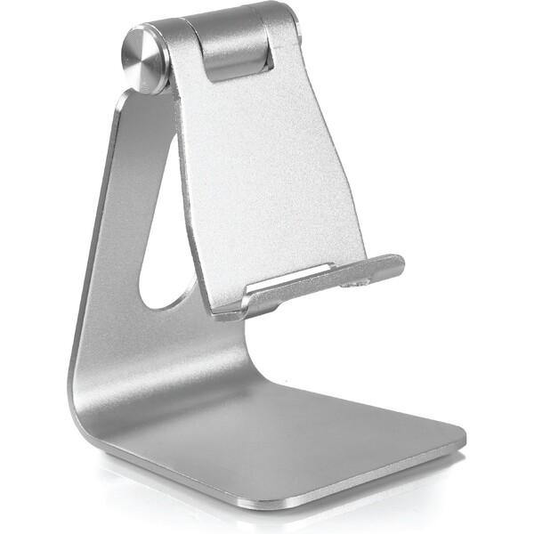 Desire2 univerzální hliníkový stojánek pro mobilní telefony Stříbrná