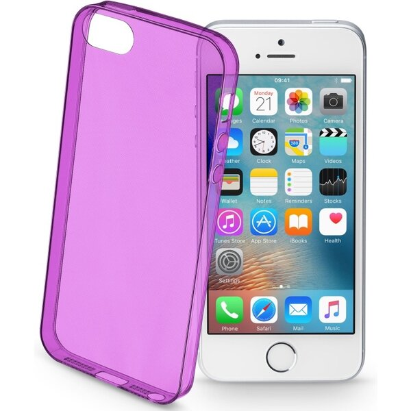 Pouzdro CELLULARLINE COLOR Apple iPhone 5/5S/SE Fialová