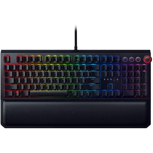 Razer BlackWidow Elite Razer Yellow US herní klávesnice černá