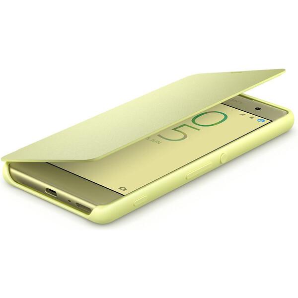 Sony SCR54 Style Cover flipový kryt Xperia XA zlatý