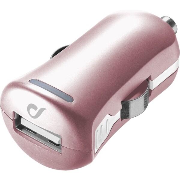 Cellularline Unique Design autonabíječka pro iPhone 10W/2A růžovozlatá Růžově zlatá