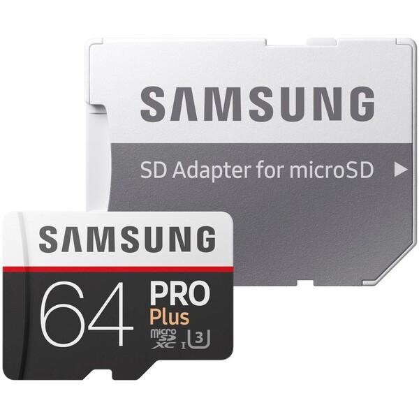 Samsung Pro microSDXC 64GB UHS-I + adaptér MB-MD64GA/EU Černá