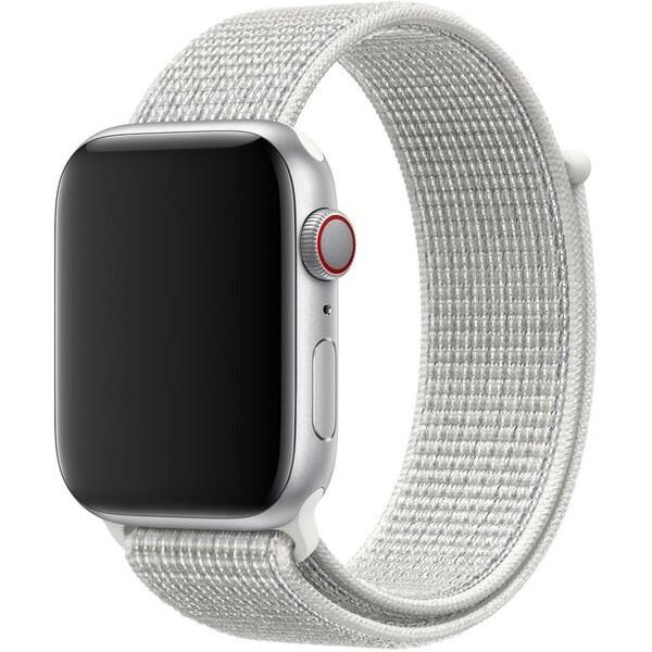 Apple Watch provlékací sportovní řemínek Nike 44/42mm sněhově bílý