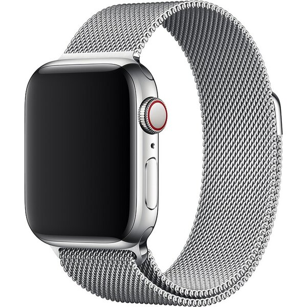 Apple Watch řemínek milánský tah 40mm stříbrný