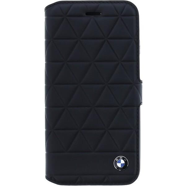 Pouzdro BMW Hexagon Kožené Book iPhone 8 Černá