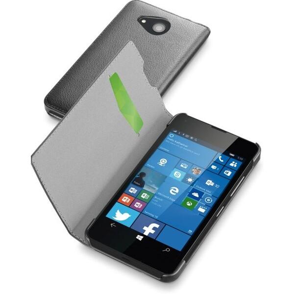 Pouzdro CellularLine Book Essential Microsoft Lumia 550 Černá