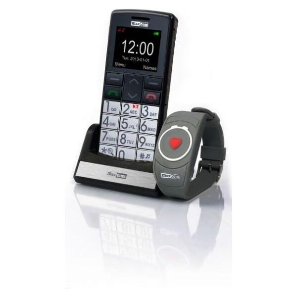 MAXCOM MM715 pro seniory + SOS náramek černý
