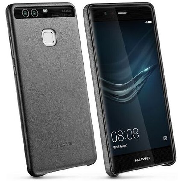 Pouzdro Huawei kožené P9 - černé Černá