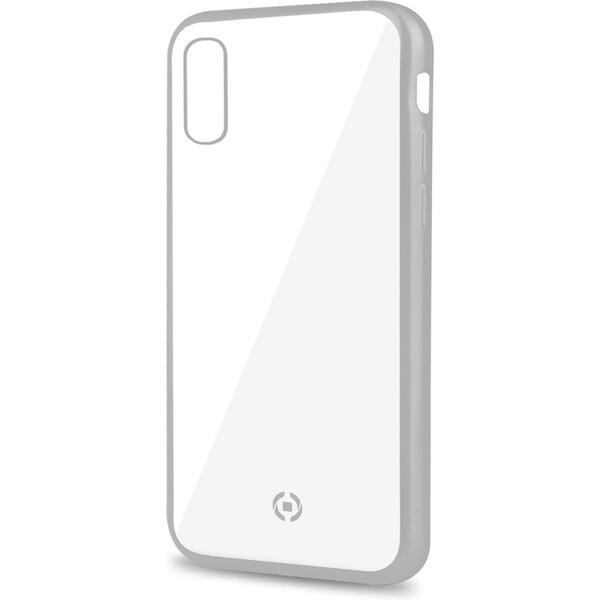 CELLY Laser pouzdro Apple iPhone XS Max stříbrné