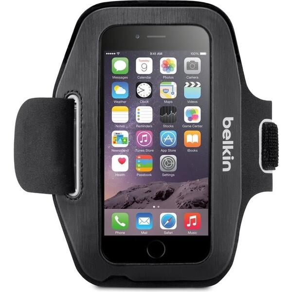 Pouzdro BELKIN SLIM-FIT Armband iPhone 6 černé Černá