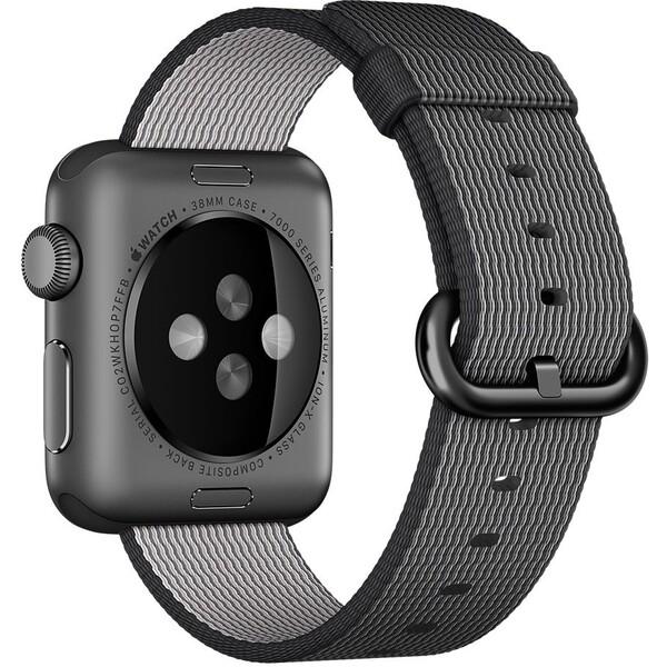 Apple Watch tkaný nylonový řemínek 38mm černý