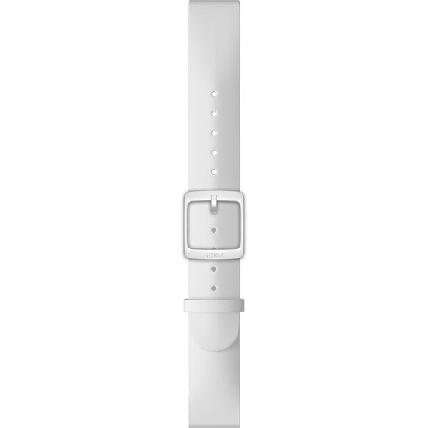 Nokia Accessory silikonový řemínek (18mm) Activité Steel a Steel HR (36mm) bílý NOK-SIL-18-WH Bílá