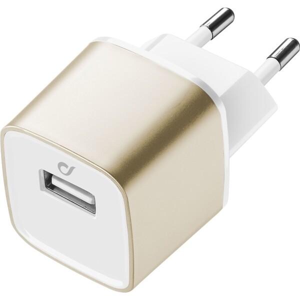 Cellularline Unique Desing USB nabíječka pro iPhone Zlatá