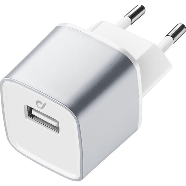 Cellularline Unique Desing USB nabíječka pro iPhone Stříbrná