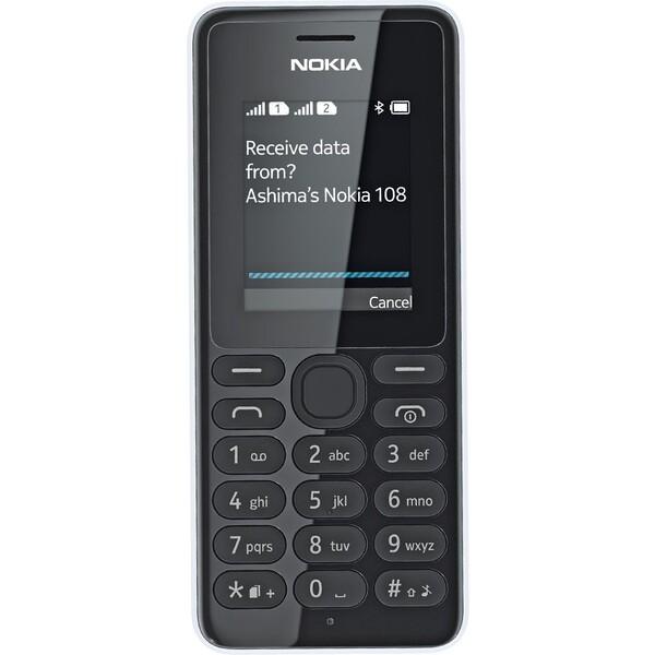 Nokia 108 Dual Bílá