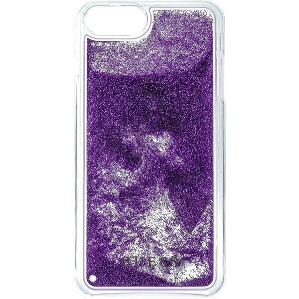 Pouzdro Guess Liquid Glitter Hard Triange iPhone 6/6S/7 Plus Fialová
