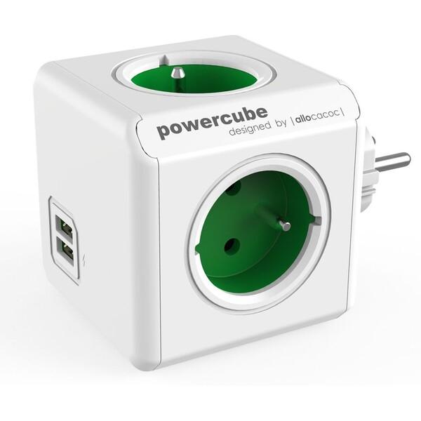 PowerCube Original USB zásuvka zelená