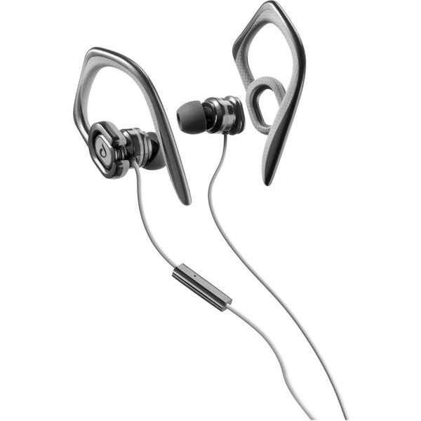 Sportovní sluchátka CellularLine GRASSHOPPER s mikrofonem, 3,5 mm jack, černá Černá