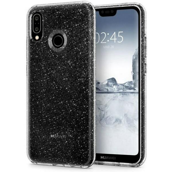 Pouzdro Spigen Liquid Crystal Huawei P20 Lite Glitter Čirá