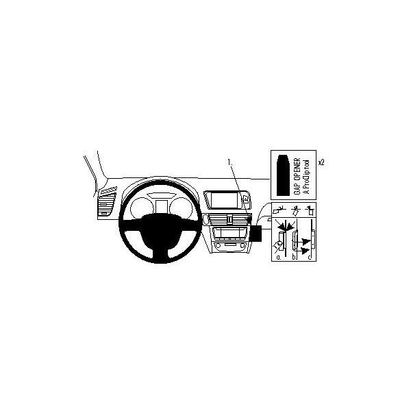 Brodit ProClip montážní konzole pro Audi Q5 09-