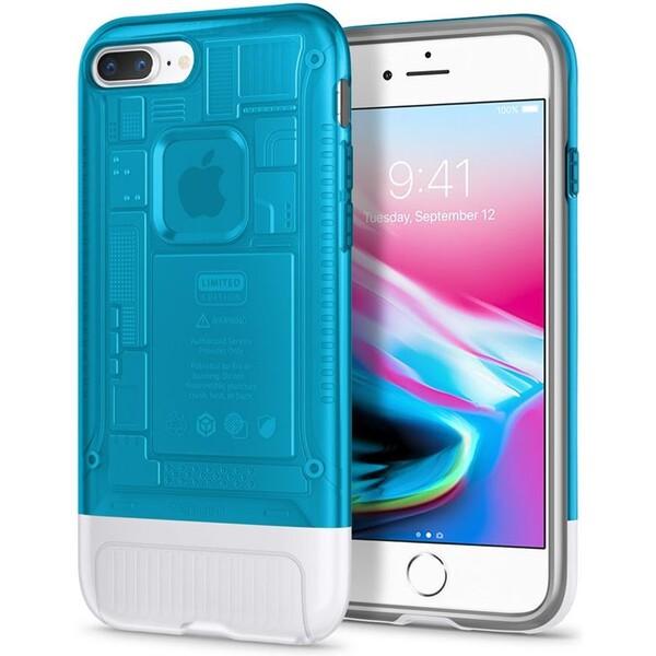 Pouzdro Spigen Classic C1 iPhone 8+/7+ blueberry Modrá