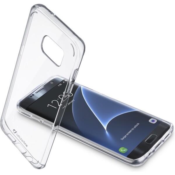 Pouzdro Cellularline CLEAR DUO zadní čiré s ochranném rámečkem Samsung Galaxy S7 Edge / čiré Čirá