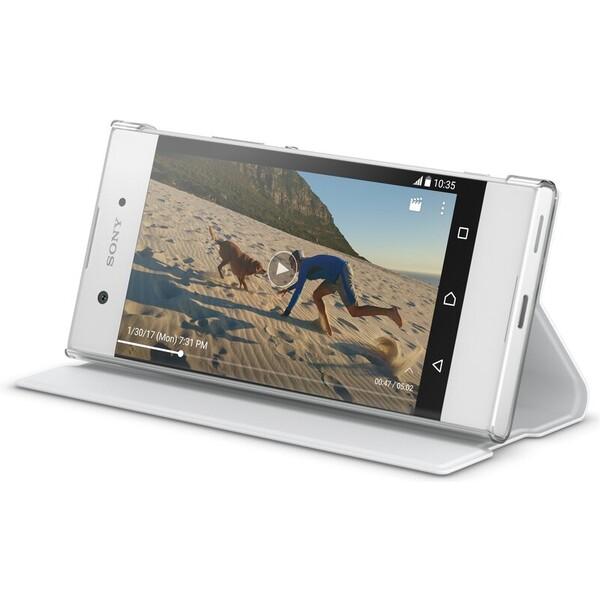 Pouzdro Sony Mobile SCSG30 Sony Style Cover Flip Xperia XA1 bílé Bílá