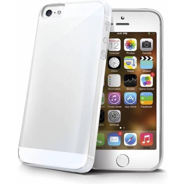 Pouzdro Celly Gelskin Apple iPhone 5 Čirá
