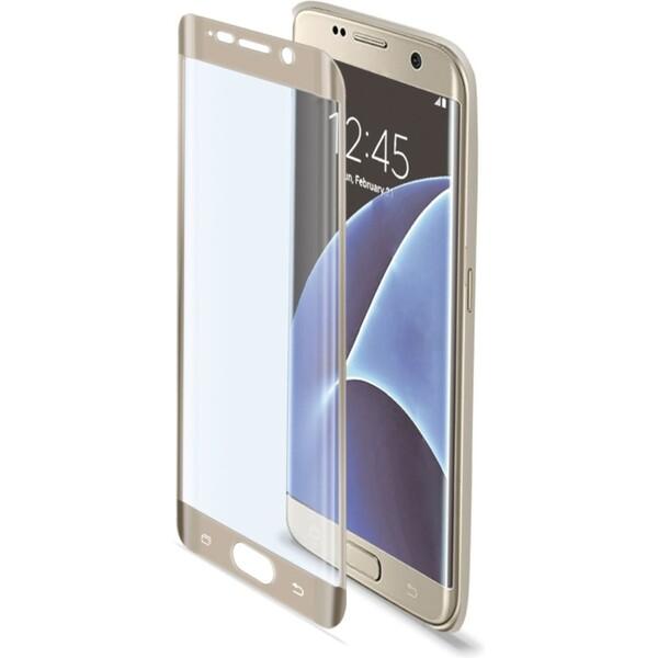 Celly Glass ochranné tvrzené sklo pro Samsung Galaxy S7 Edge zlaté GLASS591GD Zlatá