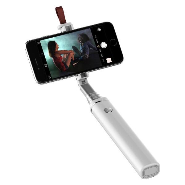 MiPow Bluetooth Selfie Stic Bílá