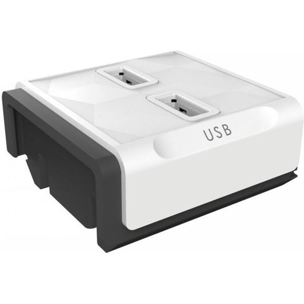 PowerCube Module 2x USB zásuvka bílá