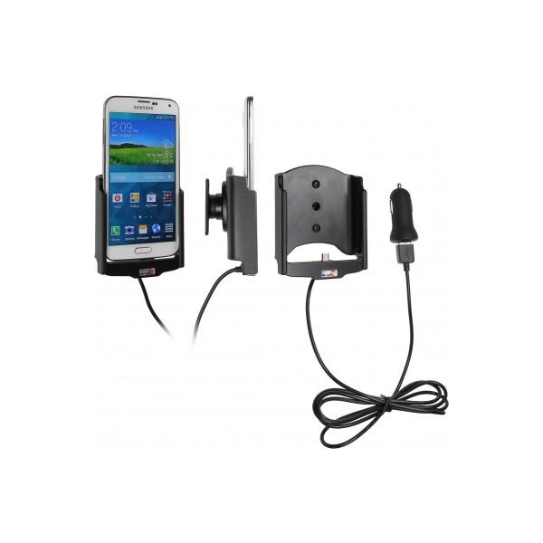 Brodit držák do auta na Samsung Galaxy S5 G900 bez pouzdra, s nabíjením z cig. zapalovače/USB 521623 Černá