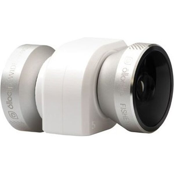olloclip 4 in 1 Lens System for iPhone 5/5S Silver Lens/White Clip OCEU IPH5 FW2M SW Bílá