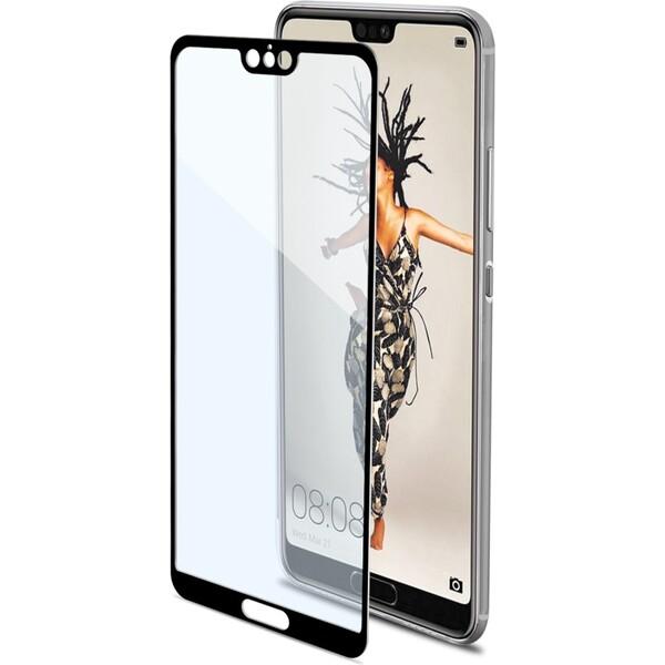 CELLY Glass Ochranné tvrzené sklo Huawei P20 FULLGLASS748BK Černá