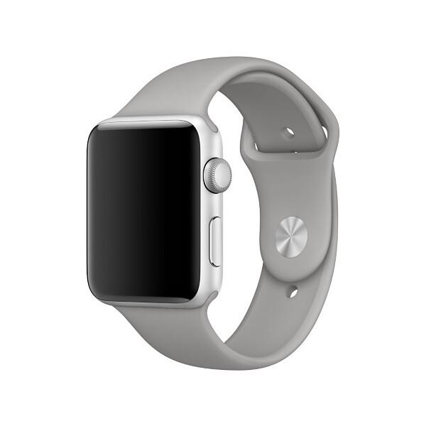 Apple Watch sportovní řemínek 42mm Cementově šedá