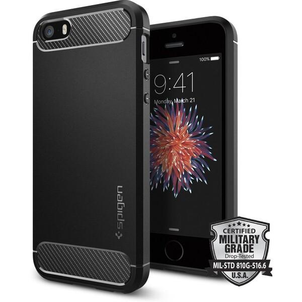 Spigen Rugged Armor kryt Apple iPhone SE/5s/5 černý