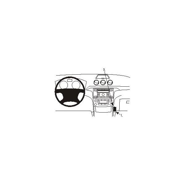 Brodit ProClip montážní konzole pro Ford Galaxy 07-14/S-Max 06-14, střed. tunel 853866 Černá