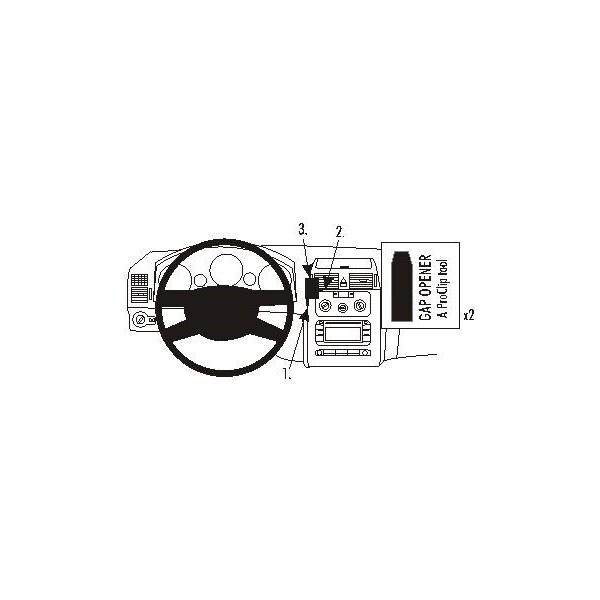Brodit ProClip montážní konzole pro Volkswagen Touran 03-06