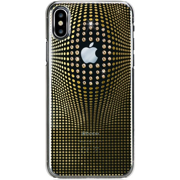 Bling My Thing Warp Deluxe Gold zadní kryt Apple iPhone X/XS s krystaly Swarovski®